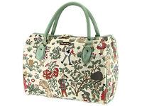 Signare Ladies Tapestry Travel Holdall Weekend Bag Handbag - Alice In Wonderland