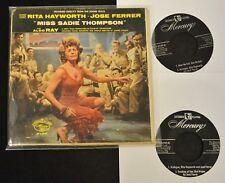 Rita Hayworth Jose Ferrer 2 EP SET Columbia 3124 Miss Sadie Thompson