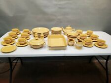 Lot of 54 Ragon House Yellowware Dinnerware Collection China with Serving Pieces