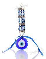 Blue beads glass greek turkish evil eye wall hanging Amulet Pendant Charm