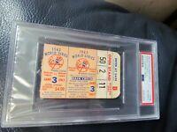 1962 World Series Game Three Ticket Stub PSA Encapsulated