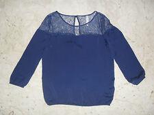 Maglia Maglietta T shirt  Blusa STRADIVARIUS con Merletto Tg S  COMPRALO SUBITO