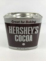 VINTAGE HERSHEY'S COCOA TIN 8 ozs. Advertising Tin with Recipes