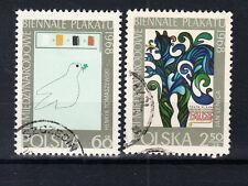 Polen Briefmarken 1968 Plakat- Biennale Mi.Nr.1844+1845 gestempelt