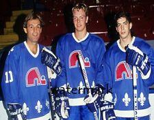 1990 Quebec Nordiques Lafleur Rookie Sundin & Sakic Color 8 X 10 Photo