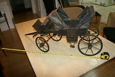 Vintage19th Century Horse Drawn Coach Doll Display Carriage Coronation Buggy