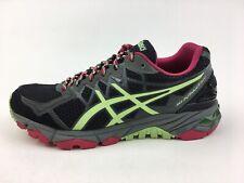 Asics T5L8N Gel-Fuji Trabuco 4 Athletic Shoes Women's Size 7.5, Black/Rasp 2691