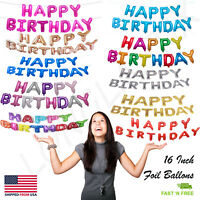 Happy Birthday Balloons Banner Balloon Bunting Party Decoration Inflating Decor✨
