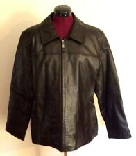 Bernardo Women's Black Leather Jacket XL Nordstrom