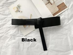 Women's Faux Leather Wrap Around Self Tie Obi Cinch Waist Belt Boho Waistband
