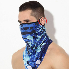 Sports Bandana Ice Silk Neck Gaiter Cover Hang Ear Triangle Face Mask Scarf
