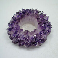 TeaLight candle Holder Tea Light Crystal Amethyst Healing Reiki