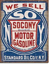 Socony Motor Gasoline metal sign 410mm x 300mm  (de) REDUCED