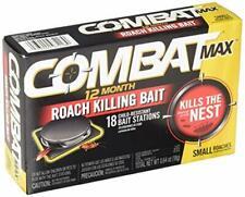 Combat Max 12 Month Roach Killing Bait, Small Roach Bait Station, Child-Resistan