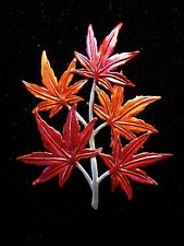 """""""JJ"""" Jonette Jewelry Silver Pewter 'Colorful JAPANESE MAPLE' Pin"""