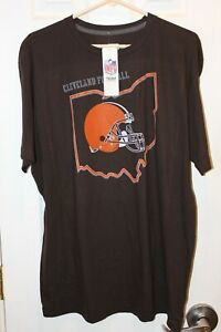 brown Cleveland Browns distressed graphic t-shirt (NWT) - adult extra-large / XL