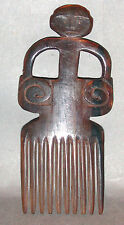 JEWELRY ORIGINAL COMB VINTAGE HANDCARVED WATER BUFFALO HORN SUMBA INDONESIA