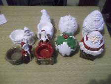 Christmas ornaments paint your own figures and pots etc