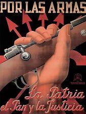 La guerra civile spagnola PROPAGANDA FASCISTA nazionalista RIFLE Spagna POSTER 2868pylv