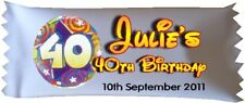 30 x Personalised Sweets 40th Birthday Party Favour