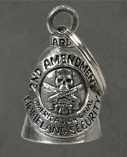 SKULL 2nd AMENDMENT HOMELAND SECURITY PEWTER GUARDIAN BELL