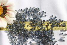 8/0 Triangle Toho Glass Seed Beads 17-Silver Lined Gray/ 28 grams # 29B