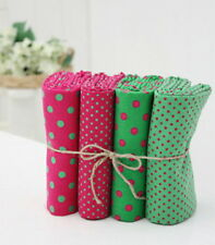 4PCS PINK & GREEN Vintage Quilting Crafts Home Deco New Fabric 100% Cotton