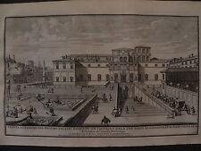 M Roma acquaforte originale 1700 Specchi Palazzo Barberini giardini gardens