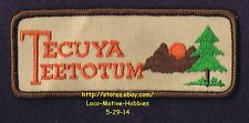 LMH PATCH Badge  TECUYA TEETOTUM  Teetotums Campground Boy Girl Scouts Camp BSA