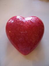 HOT PINK PEARL CERAMIC HEART VALENTINES DAY DECORATION