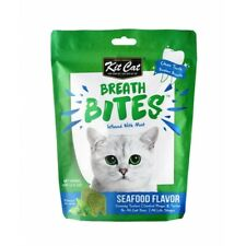 Kit Cat Breath Bites Seafood Flavor Cat Treats 60g-Infused with Mint Clean Teeth