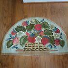 Vintage Strawberry Basket Hooked Rug - Joan Moshimer design