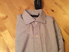 """BNWT New Ralph Lauren Cotton Purple Check Shirt 14"""" Long Sleeve"""