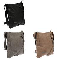 Große Damen Tasche Umhängetasche Schultertasche Leder Optik Grossover Bag Neu