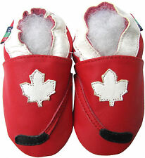 shoeszoo hockey red 2-3y S soft sole leather toddler shoes