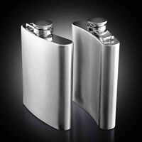 7 8 10 oz Stainless Steel Hip Liquor Whiskey Alcohol Pocket Flask Funnel Gifts