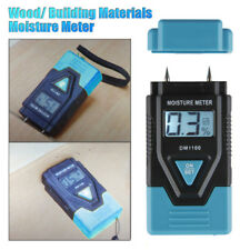 0-99.9% Digital LCD Wood Moisture Meter Temperature Humidity Tester Timber Damp
