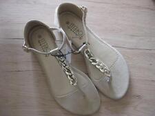 Super Damenschuhe Sandaletten  in natur Gr. 40  Neu