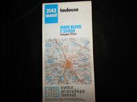 carte  IGN bleue 2143 ouest toulouse 1988