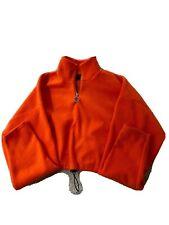 Urban Outfitters Cropped Fleece Jumper Orange Size XS