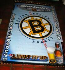 """New listing Bud Light Beer Boston Bruins Large Banner 60"""" x 36"""""""