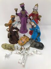 Vintage Rare Italian Christmas Nativity Set -Joseph Mary -Jesus -3 Kings- Angel