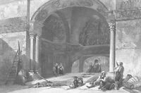 Sicily PALERMO ZISA CASTLE PORTICO ~ Old Antique 1841 Art Print Engraving RARE