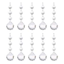 10 Clear Crystal Ball Pendant Chandelier Prisms Hanging Drops Light Replacement
