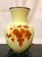 More details for japanese cloisonne enamel vase by yukio tamura