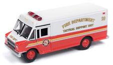 Johnny Lightning 064 1/87th 1990's GMC Step Van Delivery Trk Rd/Wht EmergencyHH