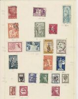 greece 1953  stamps on album page ref 10737