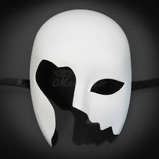 Unpainted White Blank Masquerade Mask, Cosplay Costume Party DIY Mask (M0014)