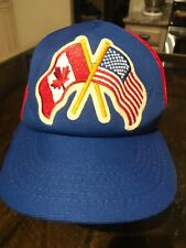 Vintage Canada and Usa Embroidered Snapback Trucker Hat - Athletic Headware Ltd