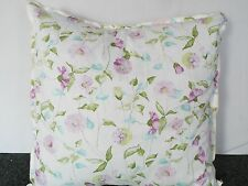 EXTRA LARGE GIANT CUSHION  GREEN LAVENDER AND DUCK EGG ON CREAM BACKGROUND